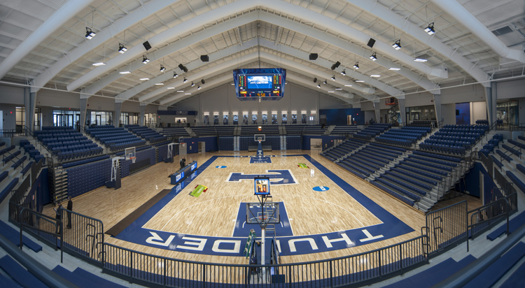 panoramic image of gymnasium