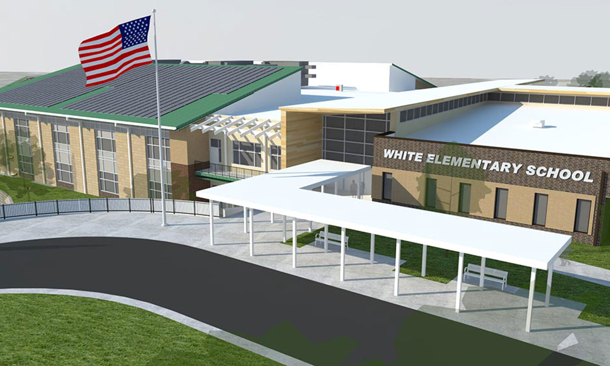 White Elementary Digital Rendering