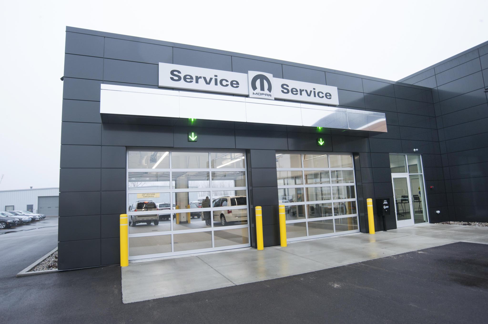 image of entrance to car service garage