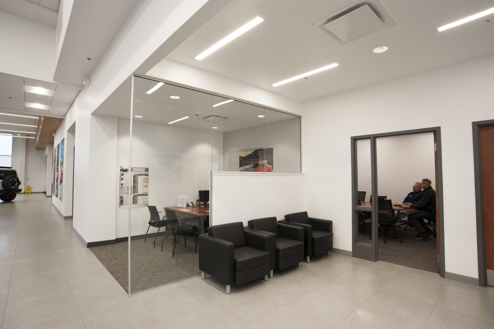 image of office space at car dealership