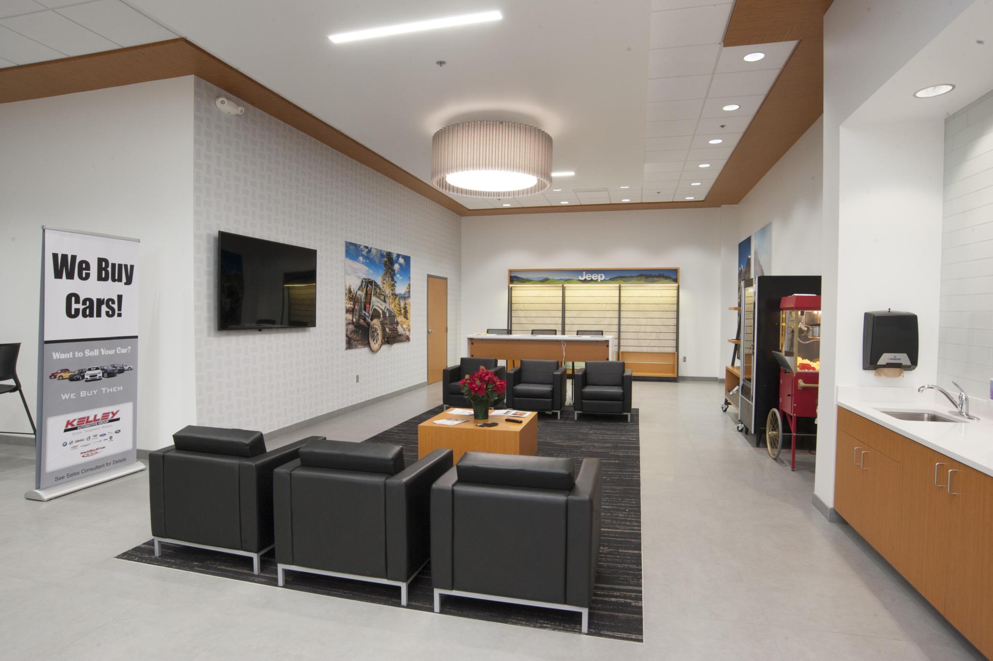 image of waiting room inside car dealership