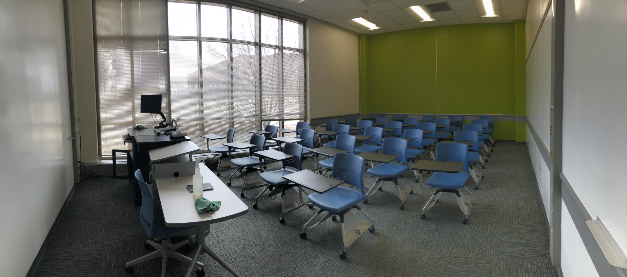 photo of classroom with large windows