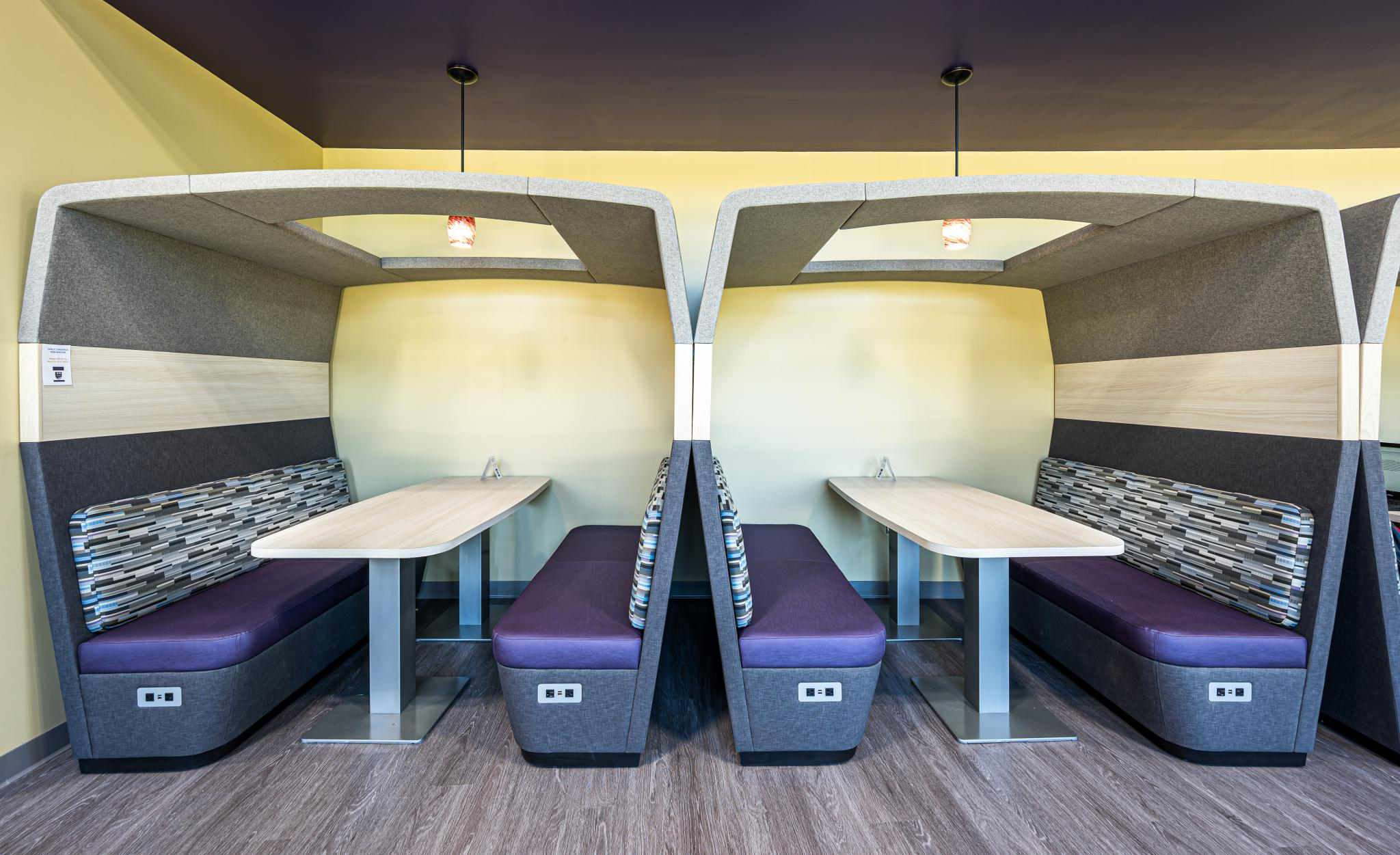 image of study pods next to each other