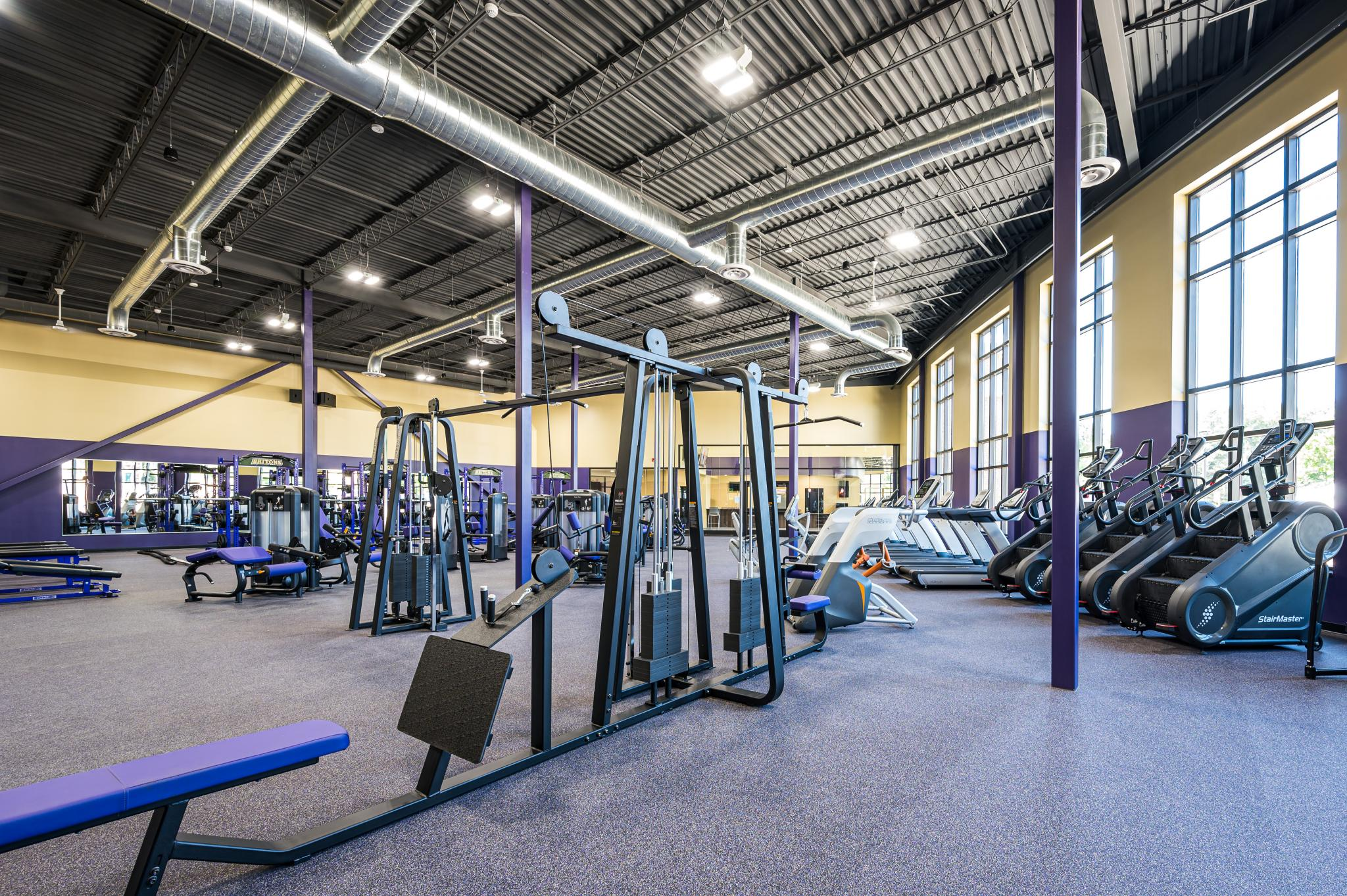 image of fitness center with weight machines