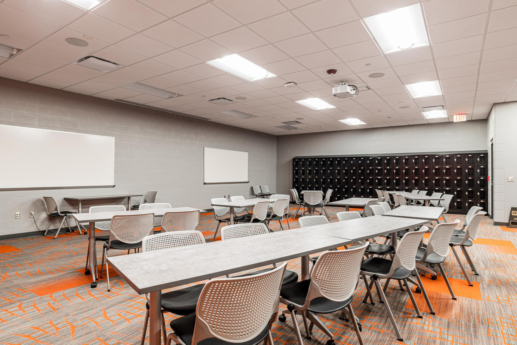 photo of a conference room with tables and chairs