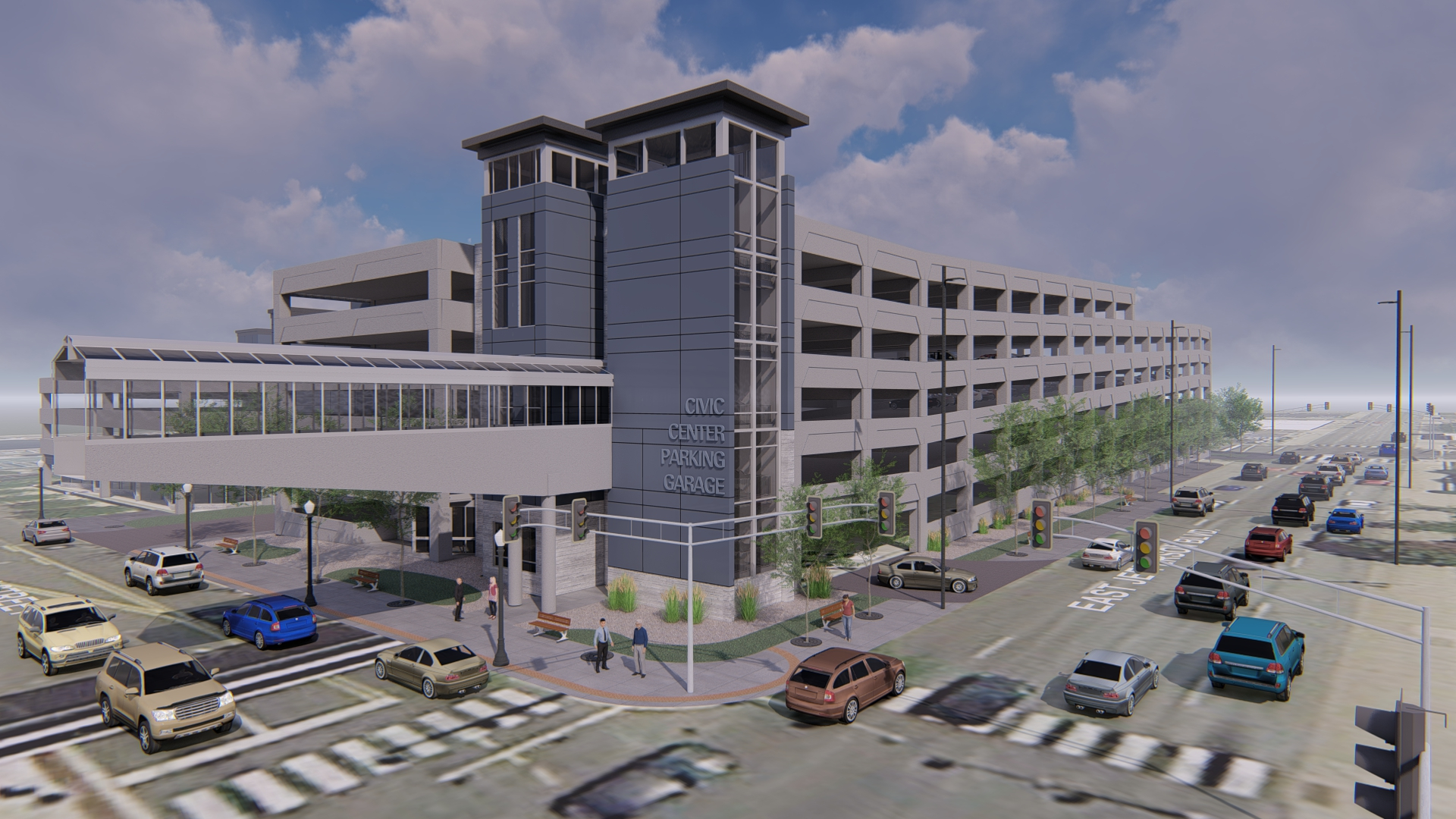 image of a parking garage rendering