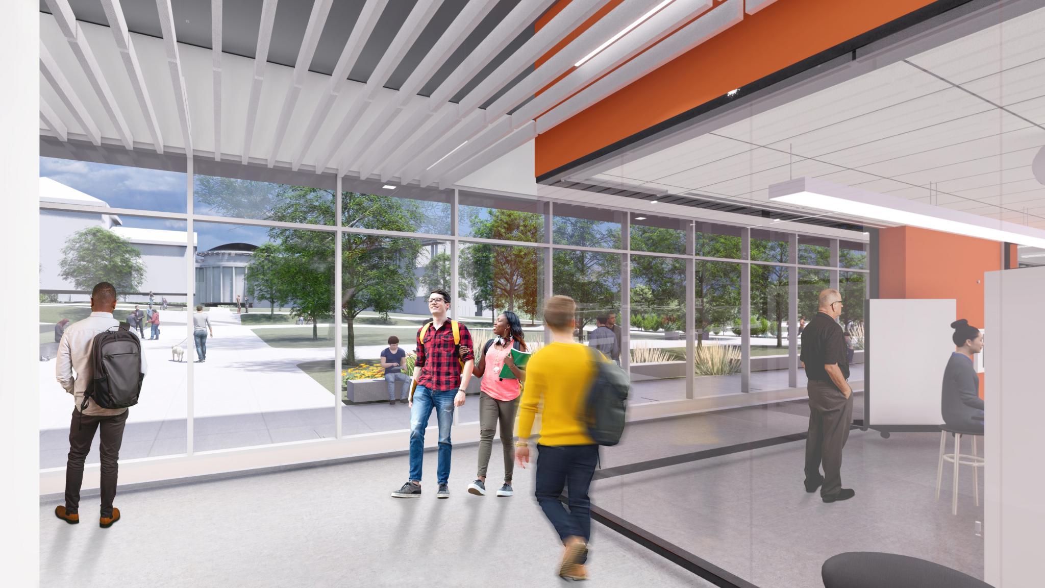 rendering of interior hall