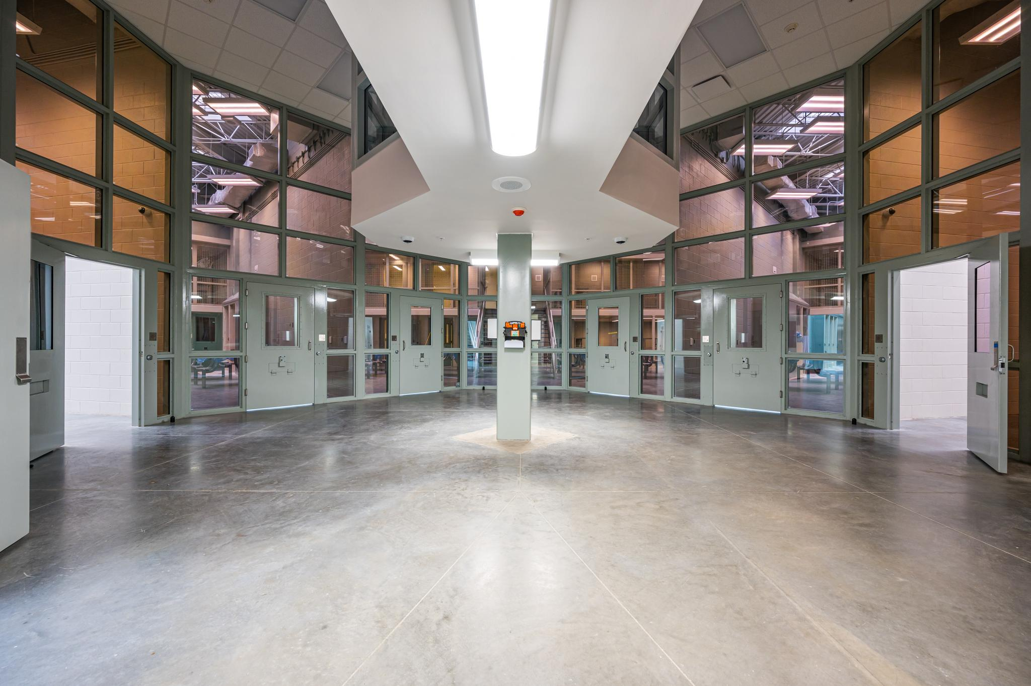 an image of a housing pod at a jail